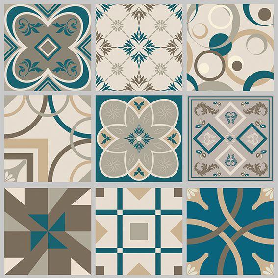 Papel de Parede Azulejo Hidraulico Marroquino Adesivo P166