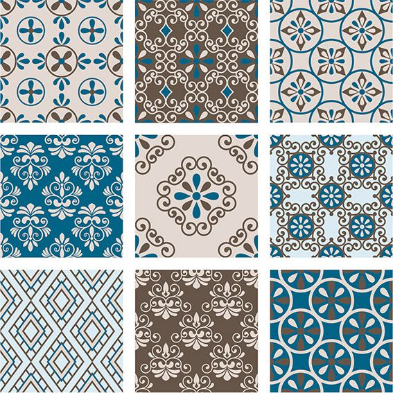 Papel de Parede Azulejo Marroquino Damask Adesivo P174