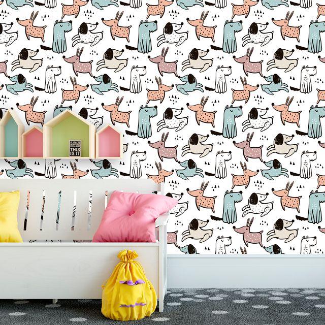 Papel de Parede Cachorrinhos Pet Shop Adesivo P327