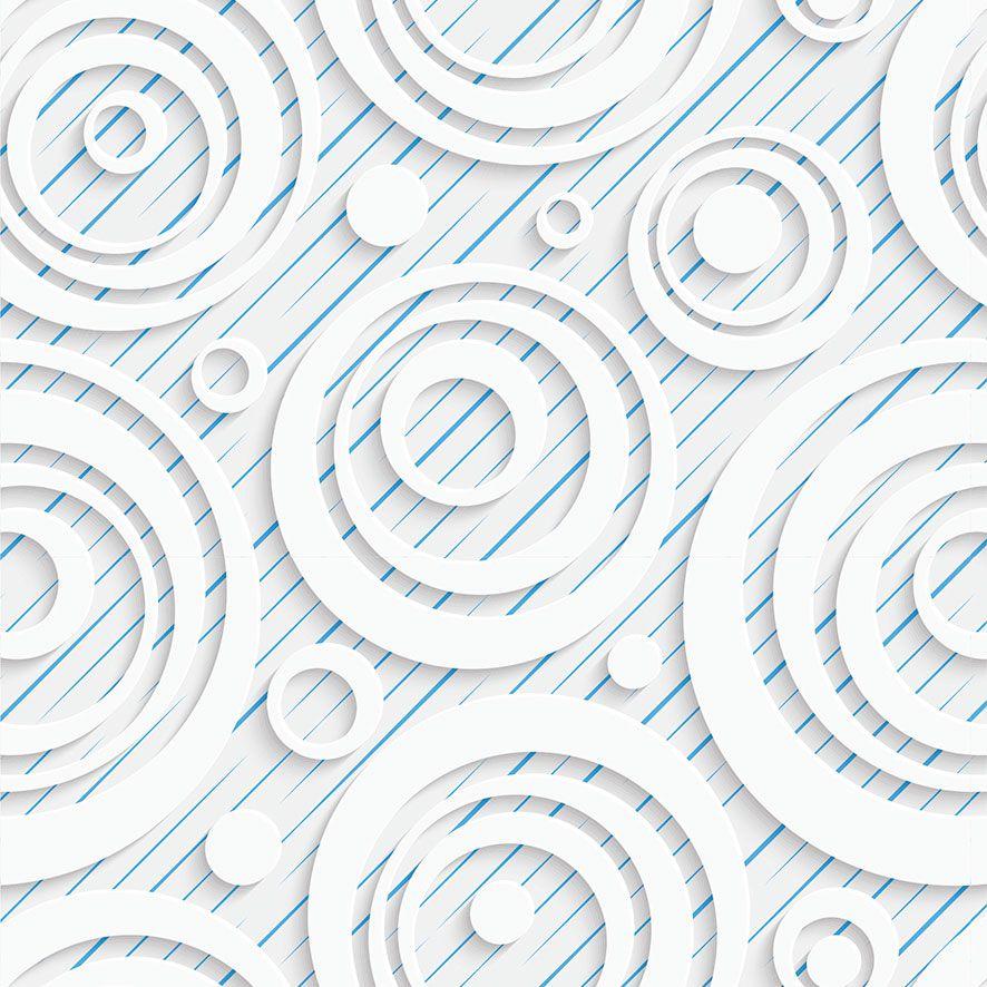 Papel de Parede 3D Listrado Círculos Adesivo P748