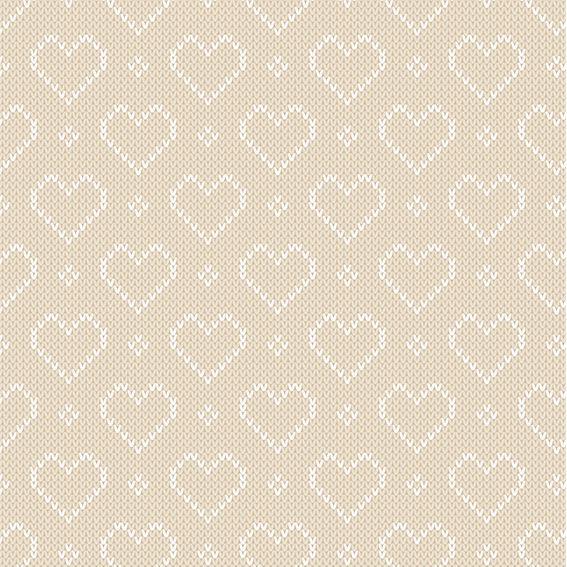 Papel de Parede Coração Crochê Glamour Adesivo P432