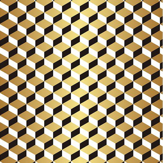 Papel de Parede 3D Geométrico Cubo Degrade Adesivo P403