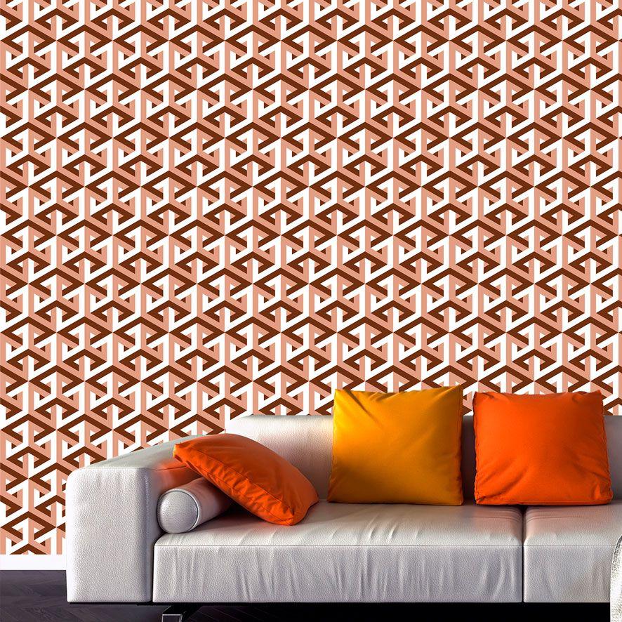 Papel de Parede 3D Cubos Geométrico Adesivo P759