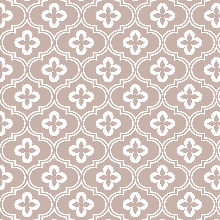 Papel de Parede Damask Geométrico Floral Adesivo P813