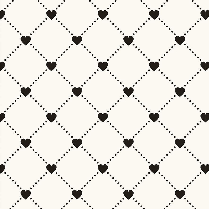 Papel de Parede Corações Texturas Geométrico Adesivo P651