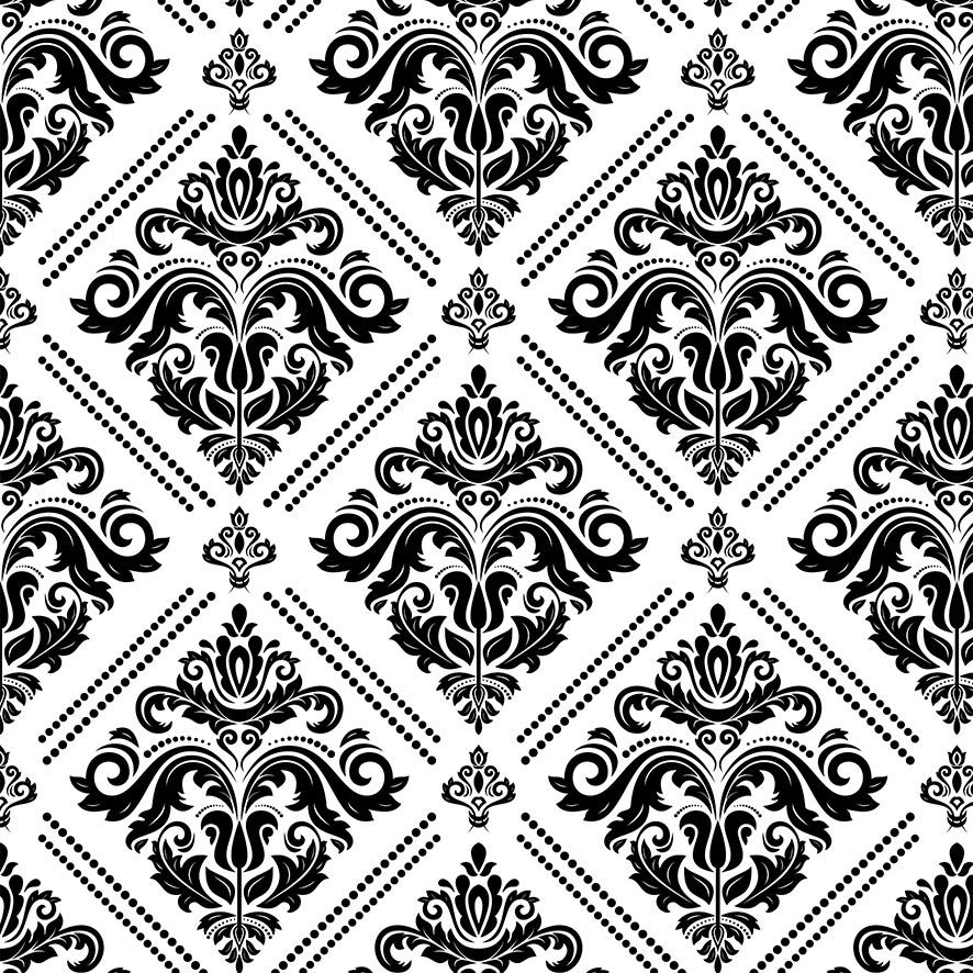 Papel de Parede Damask Vintage Glamour Adesivo P679