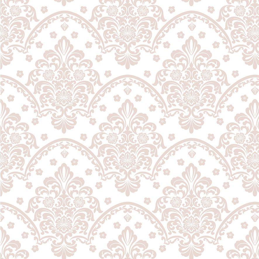 Papel de Parede Damask Floral Glamour Adesivo P775