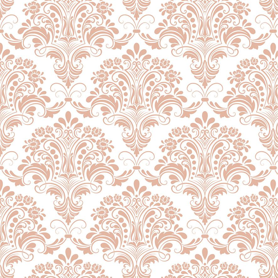 Papel de Parede Damask Floral Glamour Adesivo P586