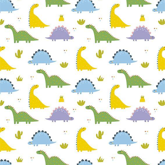 Papel de Parede Dinossauros Coloridos Kids Adesivo P261