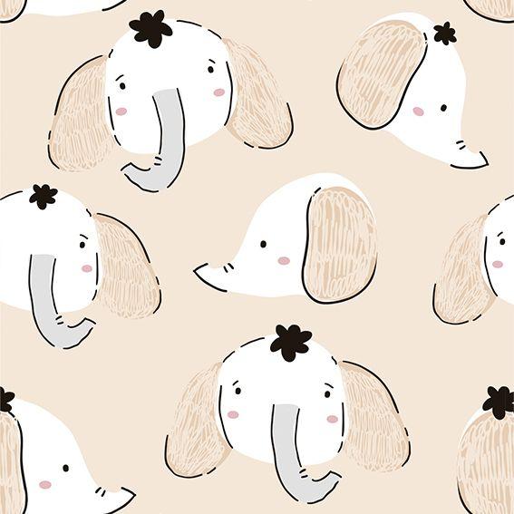 Papel de Parede Elefantinhos Kids Adesivo P289