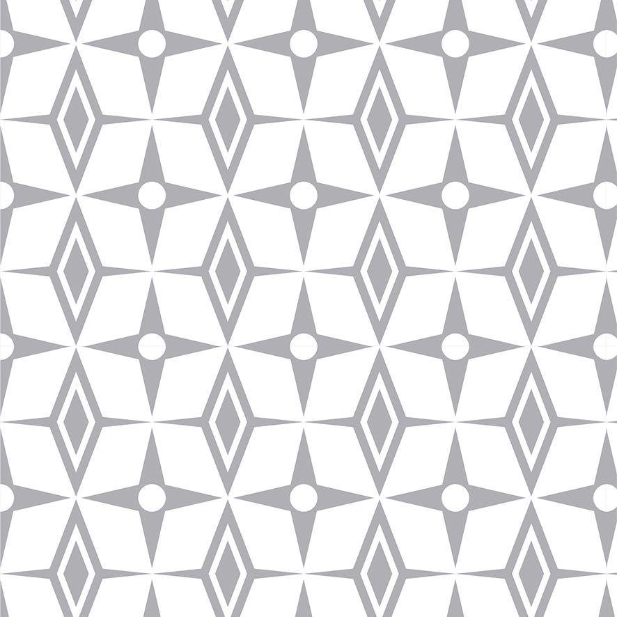 Papel de Parede Estrelas Triângulos Geométrico Adesivo P811