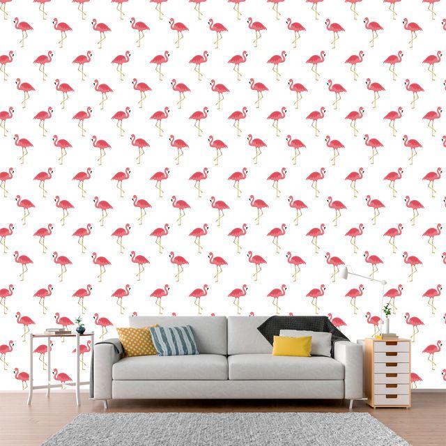 Papel de Parede Adesivo Flamingo P088