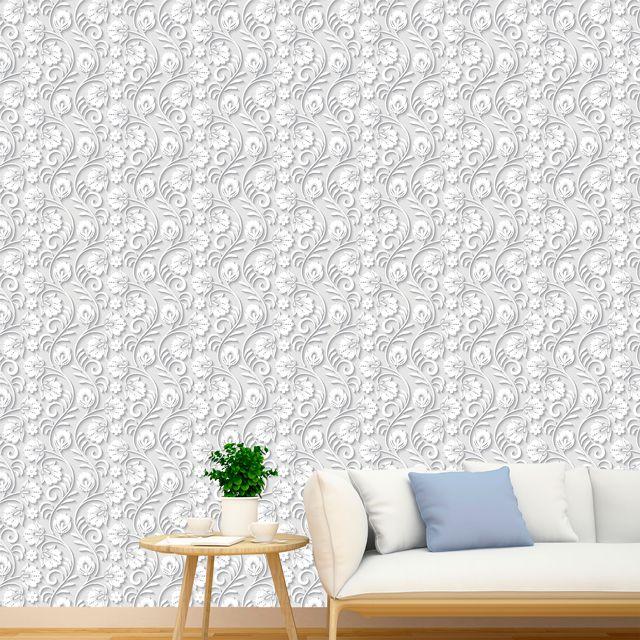 Papel de Parede 3D Galhos Folhas Floral Adesivo P095