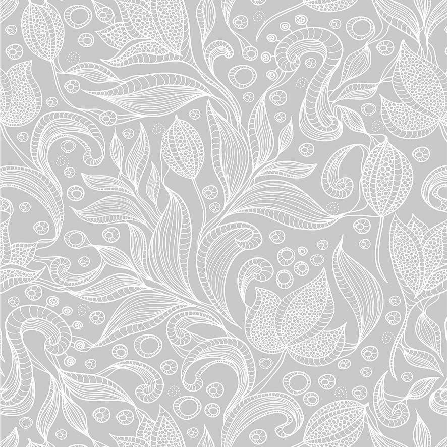 Papel de Parede Floral Galhos Folhas Glamour Adesivo P629
