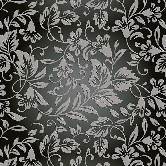 Papel de Parede Floral Arabesco Flores Galhos Folhas Adesivo P267