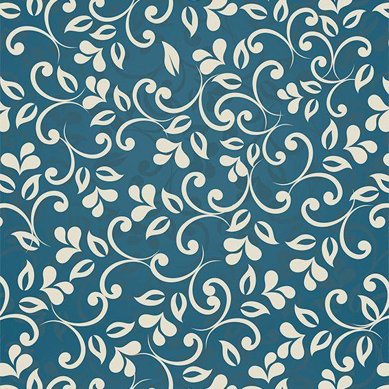 Papel de Parede Floral Arabesco Folhas Tribal Adesivo P455