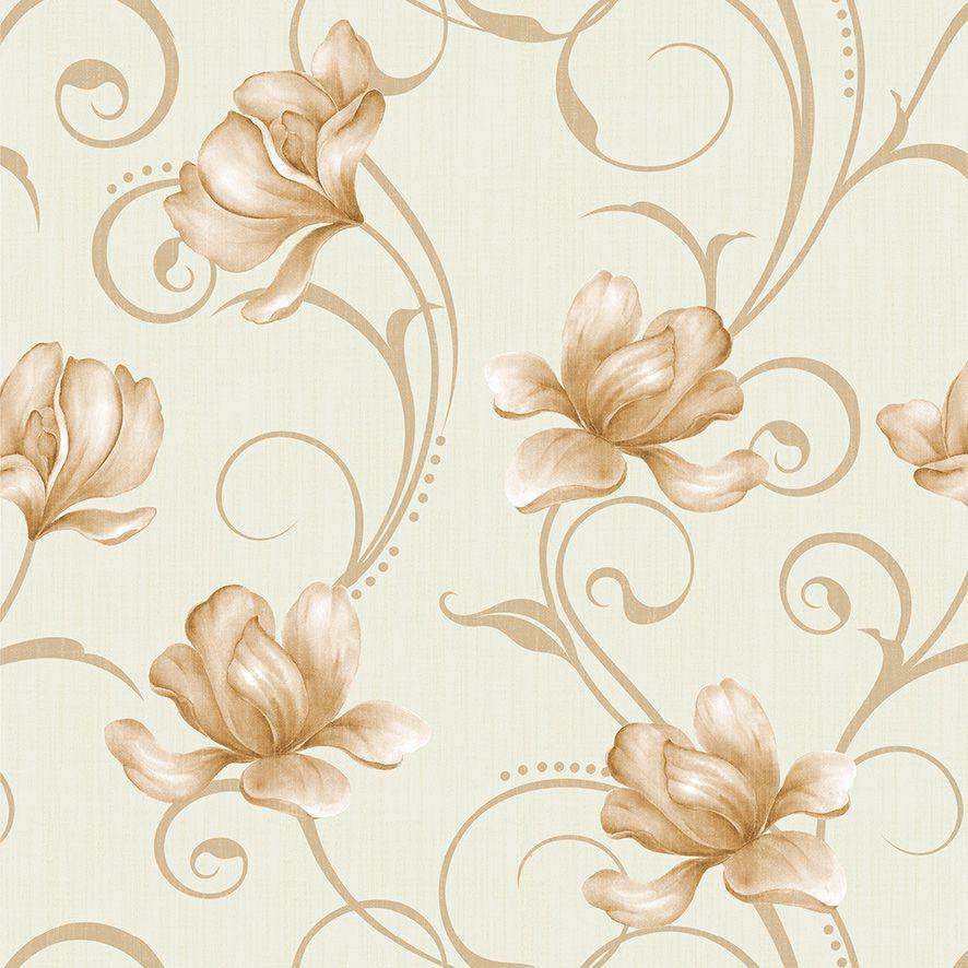 Papel de Parede Floral Arabesco Galhos Glamour Adesivo P581