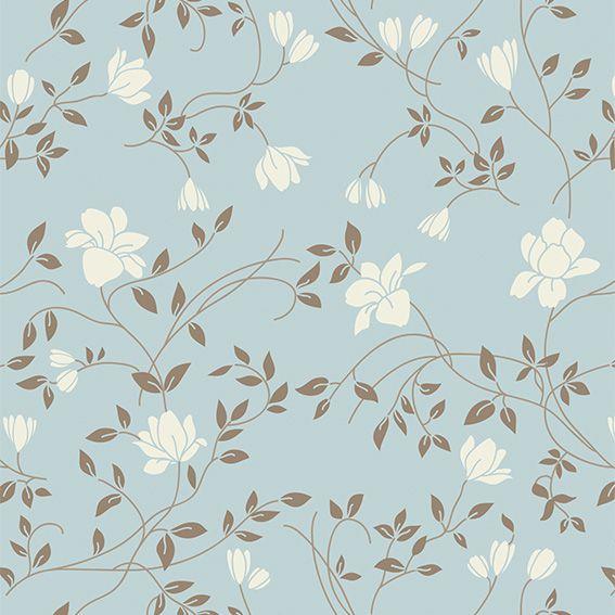 Papel de Parede Floral Galhos Folhas Glamour Adesivo P444