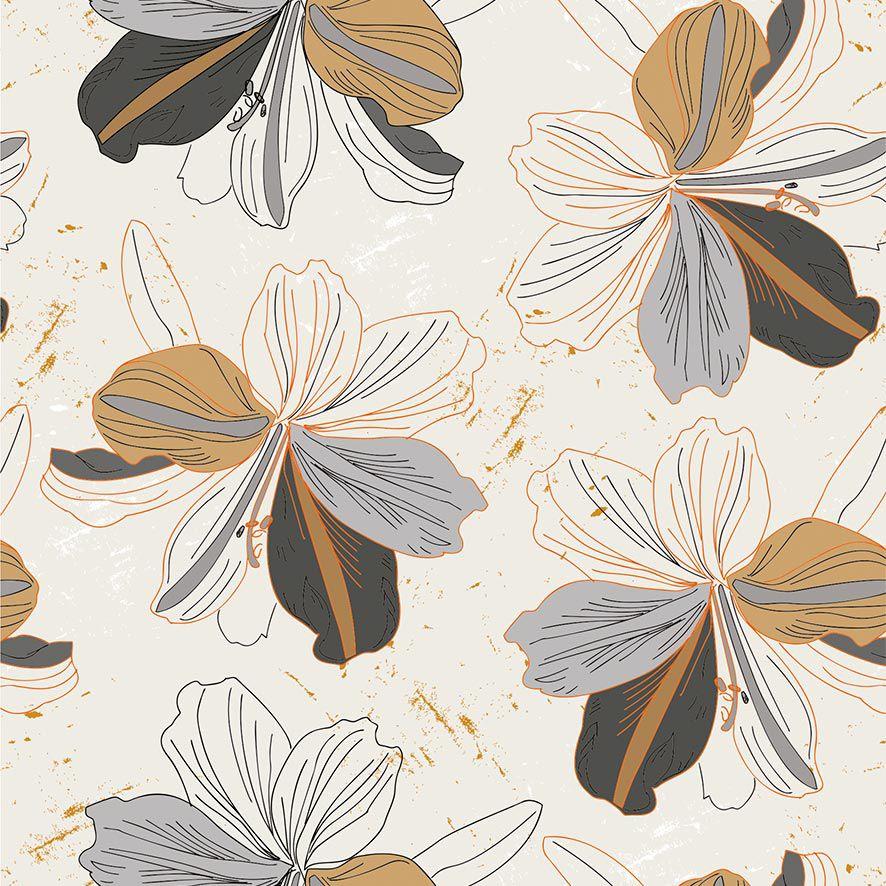 Papel de Parede Floral Flores Rusticas Adesivo P706