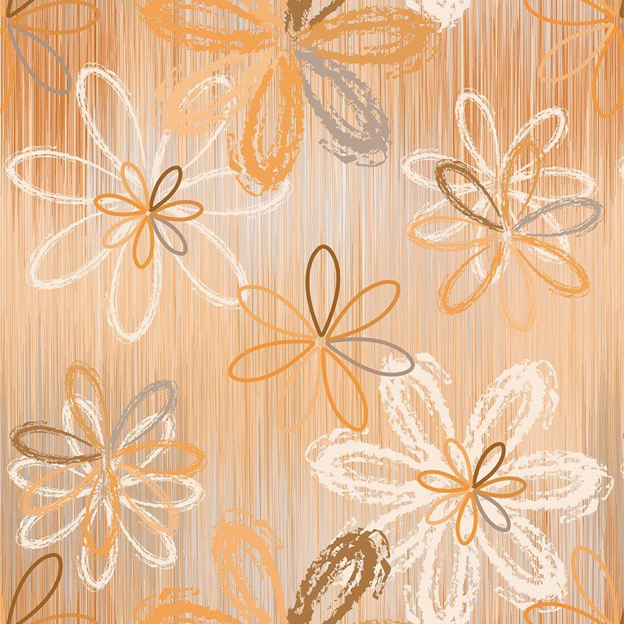 Papel de Parede Floral Degrade Flores Glamour Adesivo P707