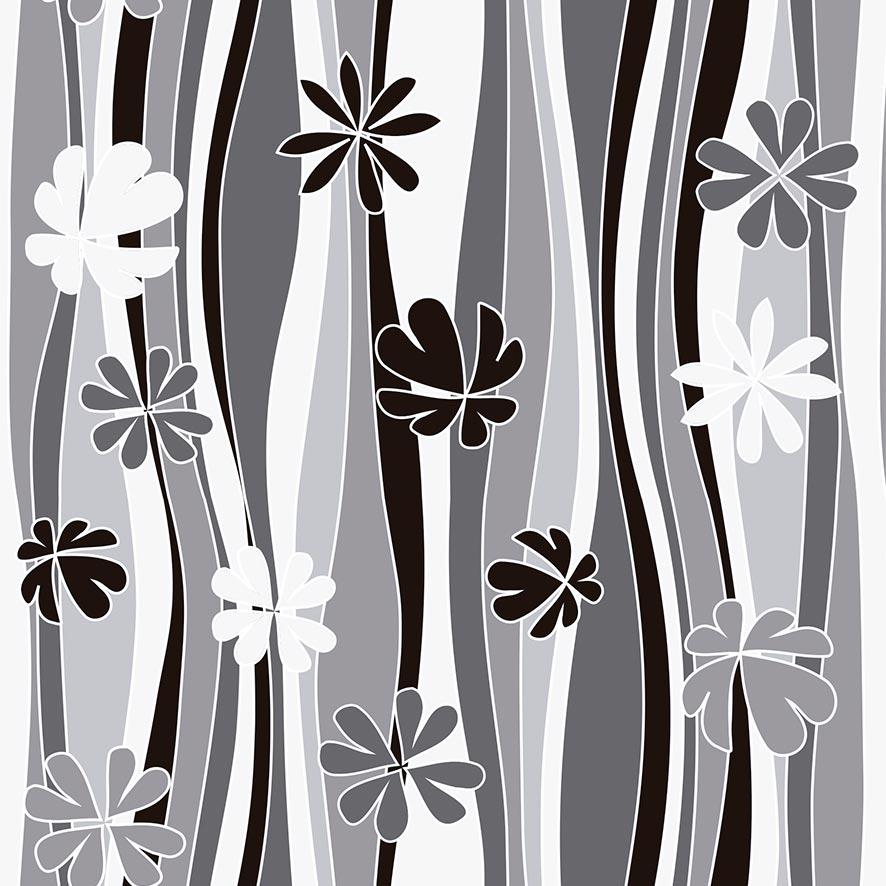 Papel de Parede Floral Ondulado Flores Adesivo P708