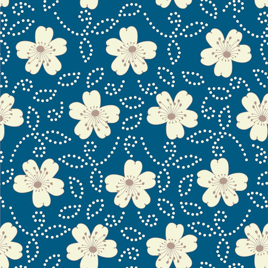 Papel de Parede Floral Poa Flores Glamour Adesivo P737