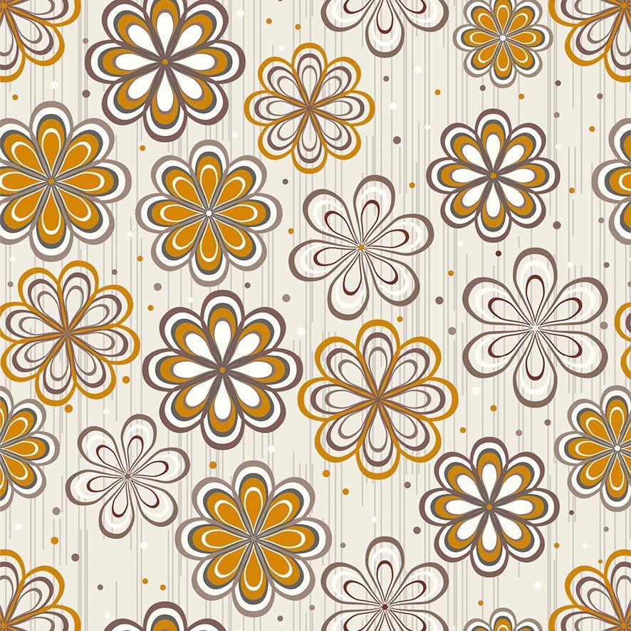 Papel de Parede Floral Bolinhas Flores Glamour Adesivo P791