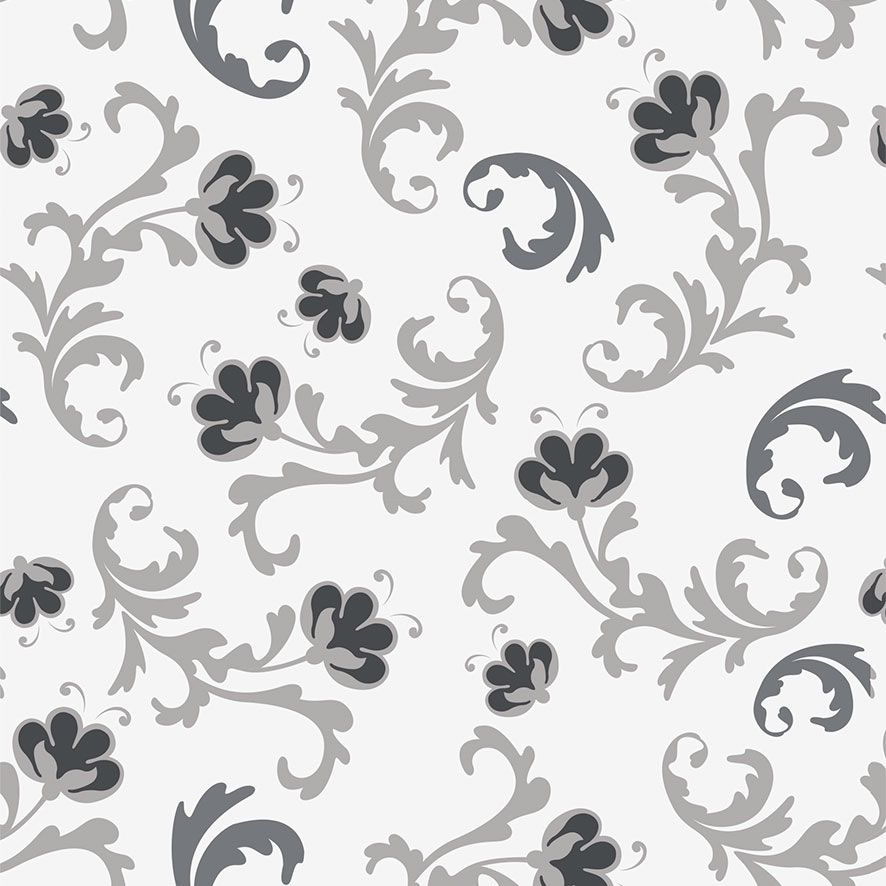 Papel de Parede Floral Folhas Flores Glamour Adesivo P771