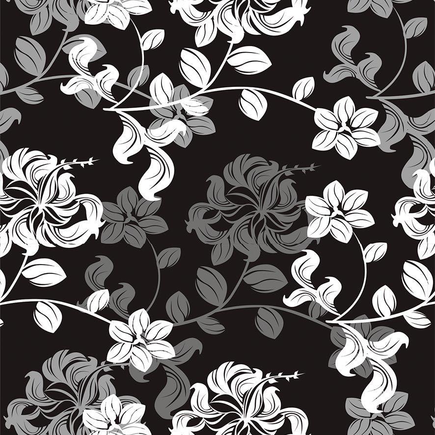 Papel de Parede Floral Galhos Folhas Glamour Adesivo P806