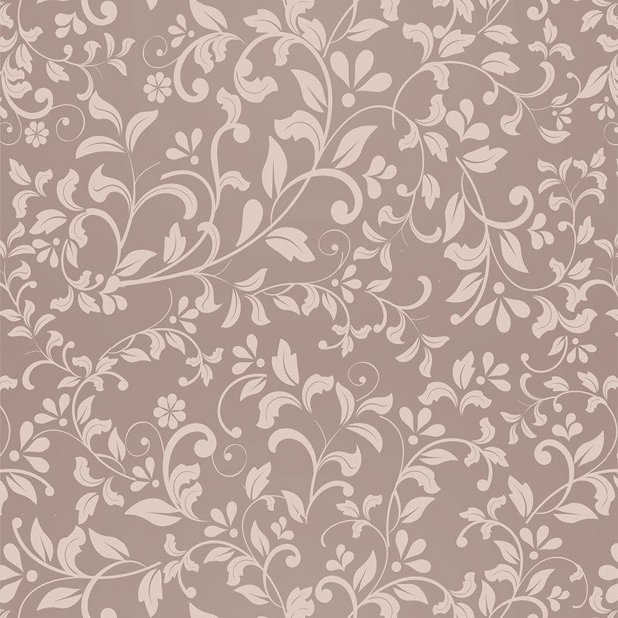 Papel de Parede Floral Galhos Folhas Glamour Adesivo P807