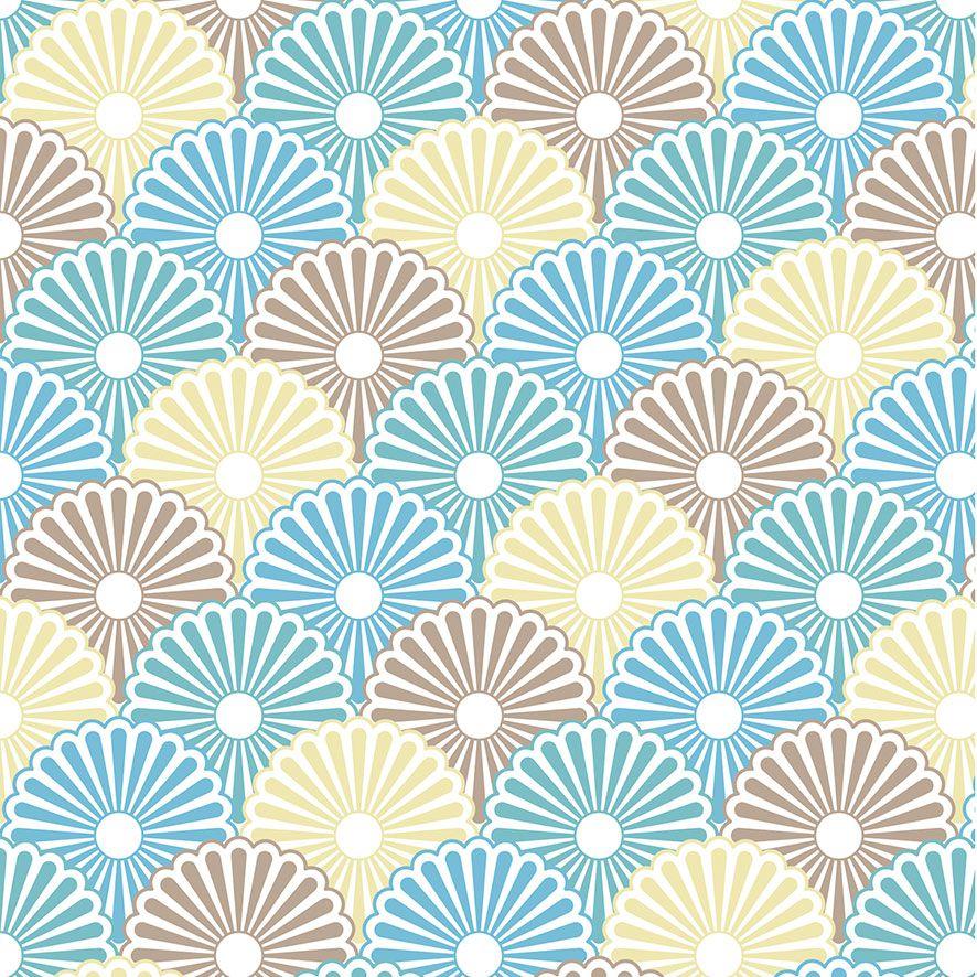 Papel de Parede Floral Japonês Vintage Adesivo P506