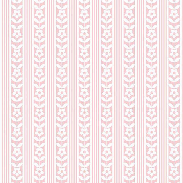 Papel de Parede Floral Listrado Folhas Adesivo P117
