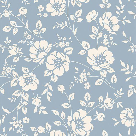 Papel de Parede Floral Galhos Folhas Glamour Luxo Adesivo P218