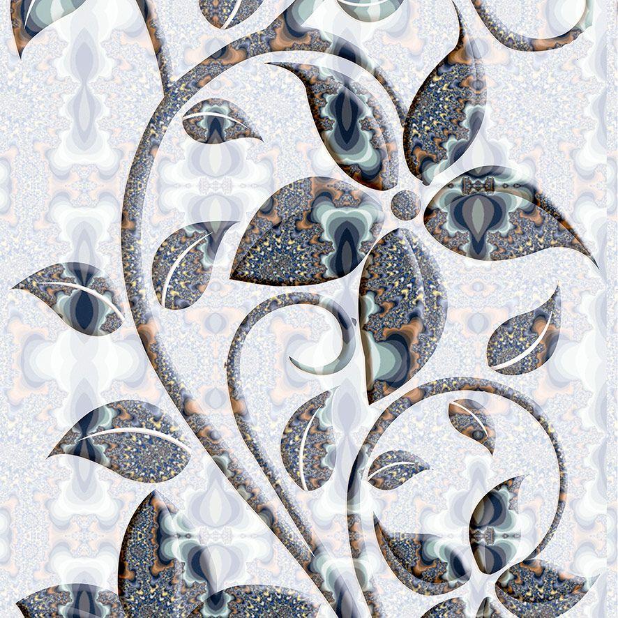 Papel de Parede Floral Arabesco Luxo Adesivo P570