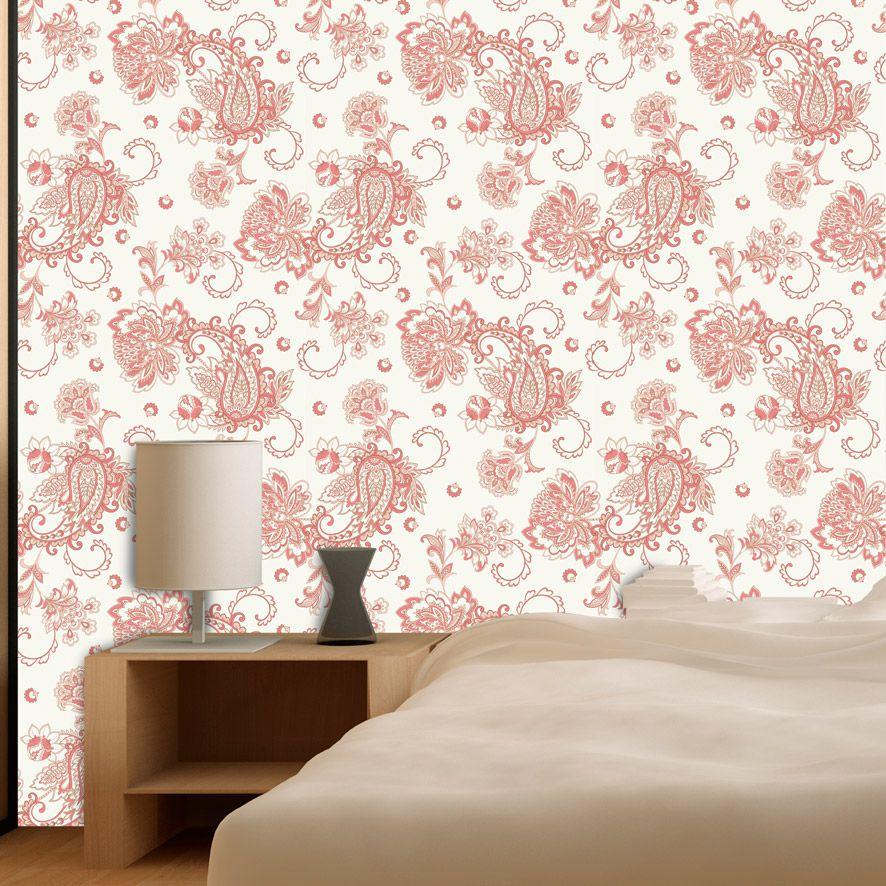 Papel de Parede Floral Oriental Japônes Adesivo P770
