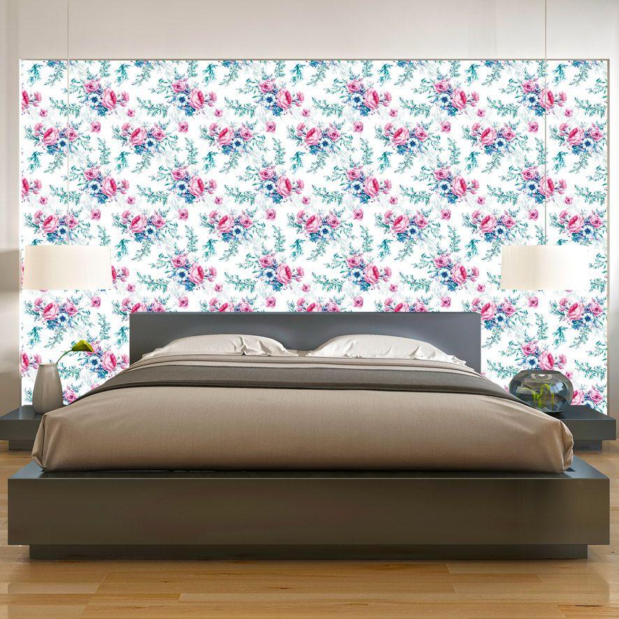 Papel de Parede Adesivo Floral P046