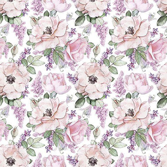 Papel de Parede Floral Flores Tropical Adesivo P161