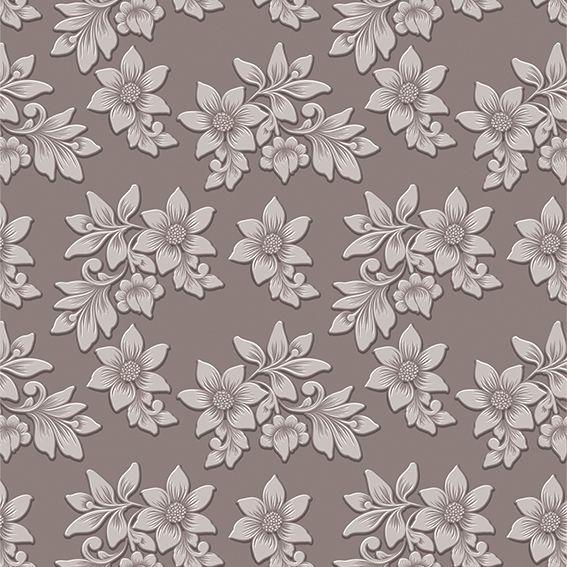 Papel de Parede Floral Folhas Flores Glamour Adesivo P270