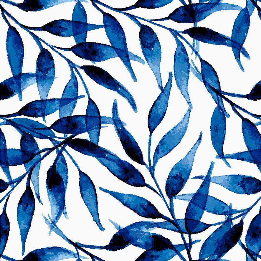Papel de Parede Floral Aquarela Folhas Adesivo P666
