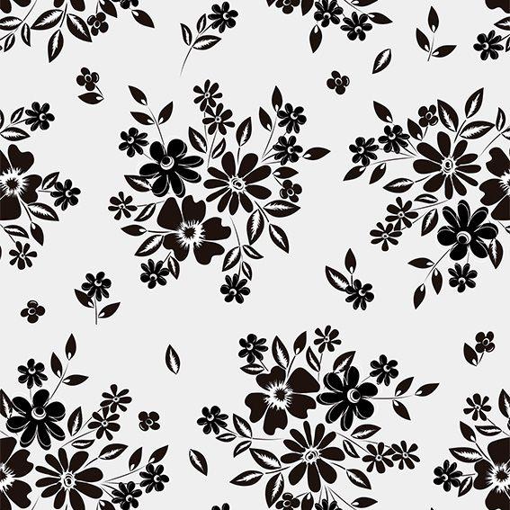 Papel de Parede Ramo de Flores Galhos Folhas Adesivo P451