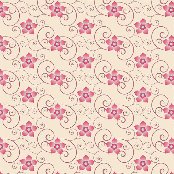 Papel de Parede Floral Flores Galhos Arabesco Adesivo P459