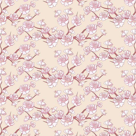 Papel de Parede Floral Galhos Flores Rose Glamour Adesivo P151