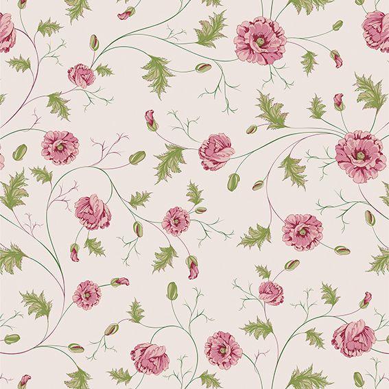 Papel de Parede Galhos Flores Rosas Glamour Adesivo P236