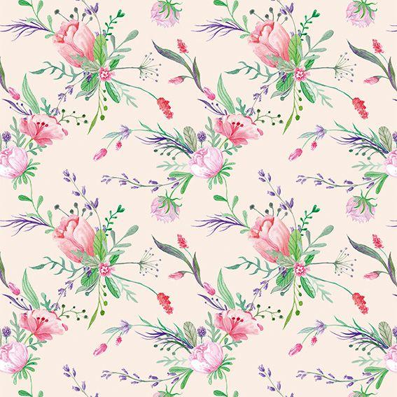 Papel de Parede Flores Rosas Ramos Glamour Adesivo P380