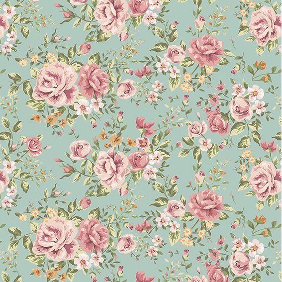 Papel de Parede Floral Flores Rosas Luxo Adesivo P054