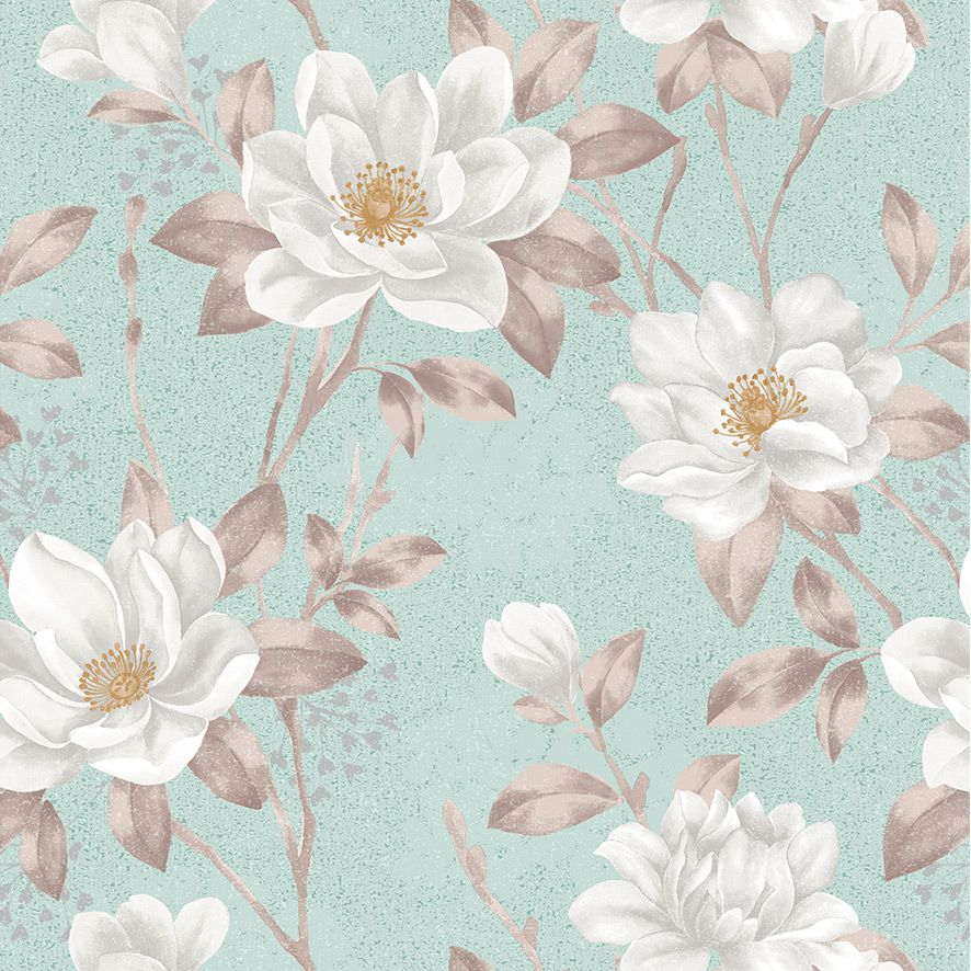 Papel de Parede Floral Galhos Flores Glamour Adesivo P501