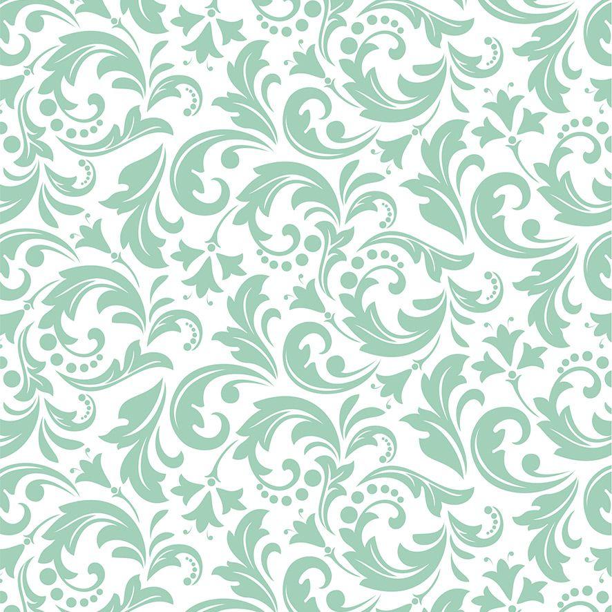 Papel de Parede Folhas Arabesco Glamour Adesivo P531