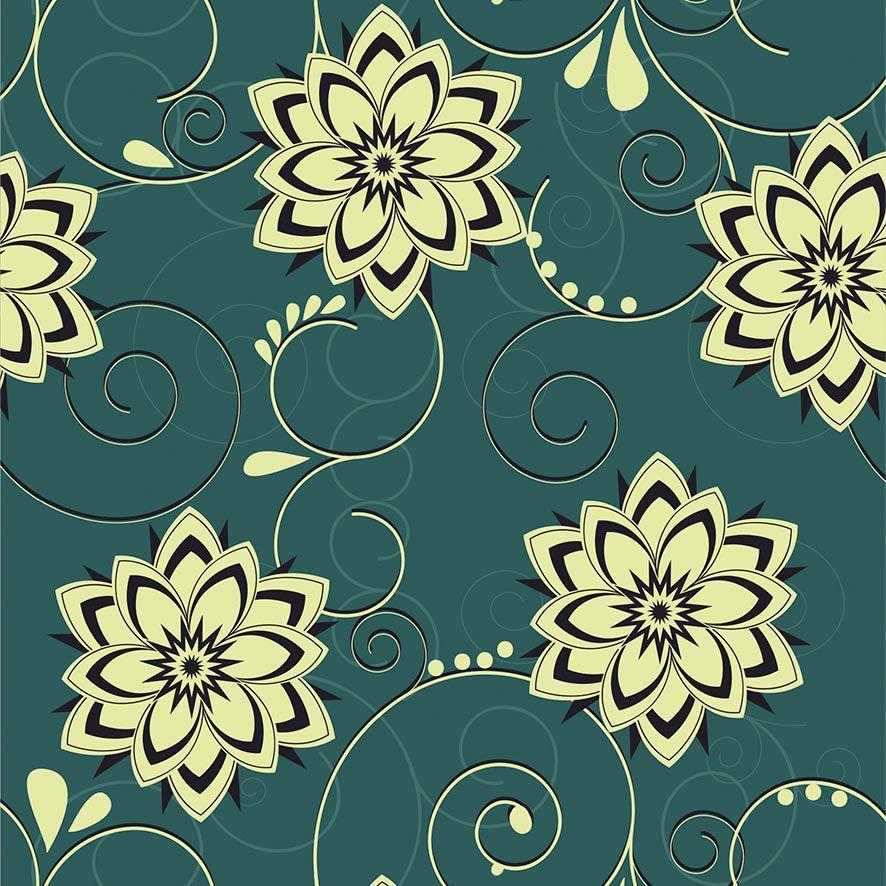 Papel de Parede Floral Arabesco Glamour Adesivo P644