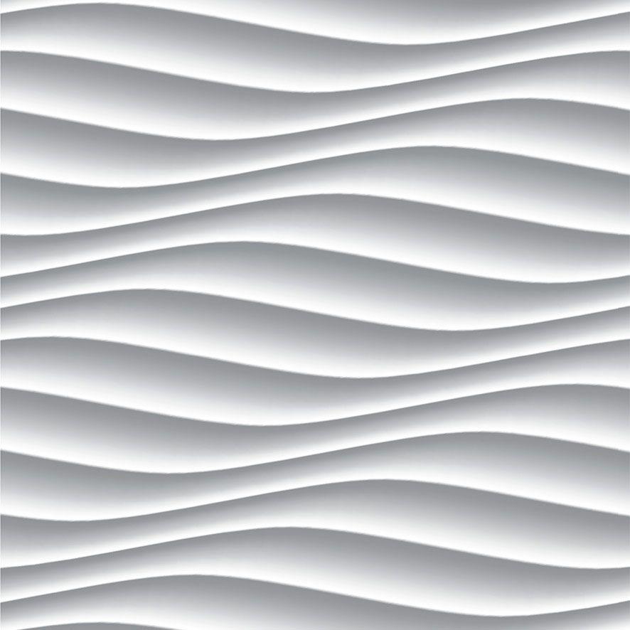 Papel de Parede 3D Geométrico Ondulado Adesivo P658