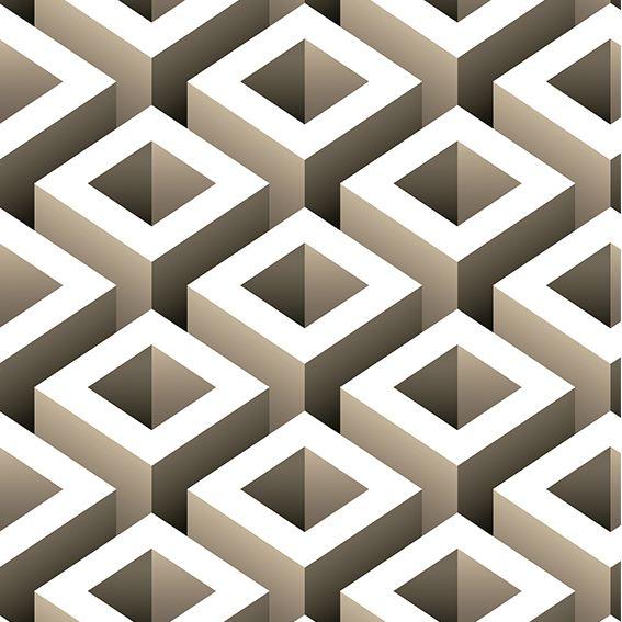 Papel de Parede 3D Geométrico Quadrado Adesivo P428